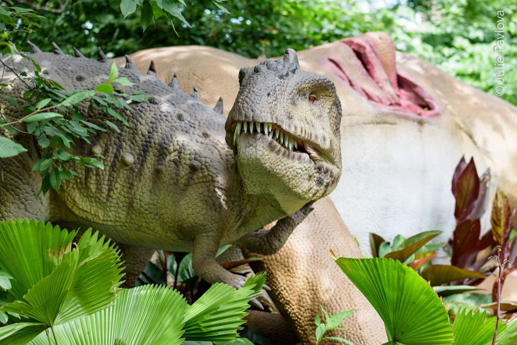 Dinosaur Safari ride in Bronx Zoo by New York Photographer Julie Pavlova