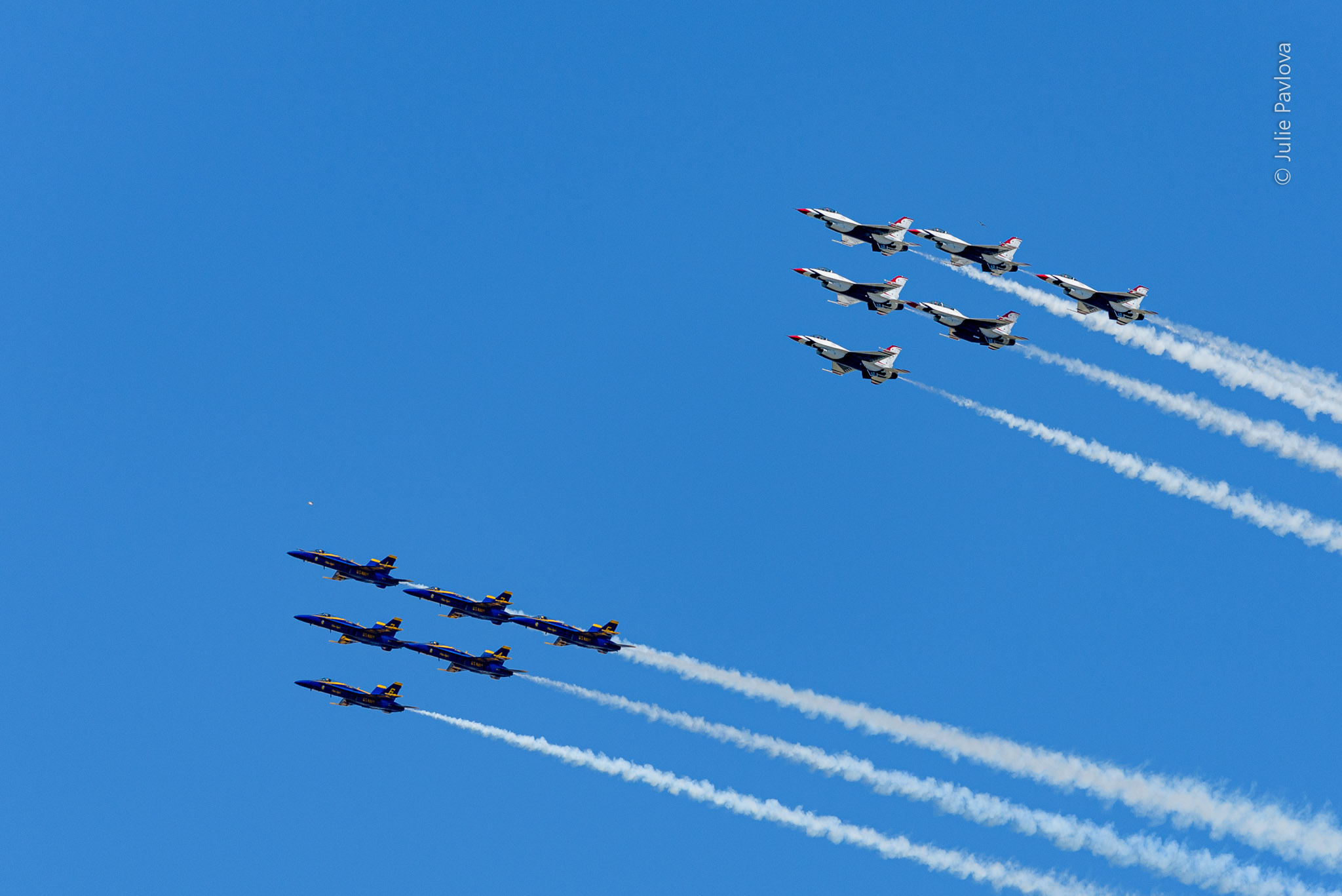 Blue Angels-Thunderbirds flyover to Salute New York Coronavirus Responders 04/29/2020 by Julie Pavlova Photography