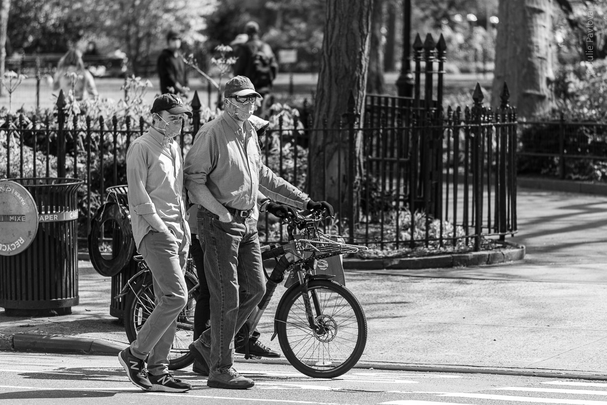 Men in masks. Manhattan, New York, during COVID-19. (04/26/2020 by Julie Pavlova Photography)