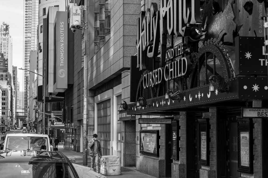 Harry Potter an the Cursed Child. Manhattan, New York, during COVID-19. (04/26/2020 by Julie Pavlova Photography)