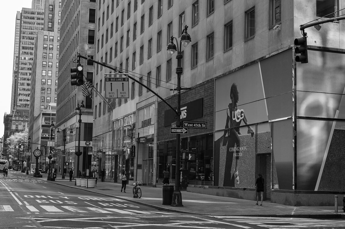 Empty 5th ave. UGG. Manhattan, New York, during COVID-19. (04/26/2020 by Julie Pavlova Photography)