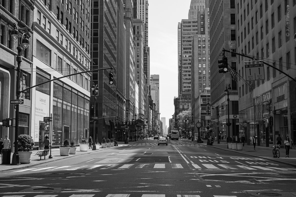 Empty streets of Manhattan, New York, during COVID-19. (04/26/2020 by Julie Pavlova Photography)