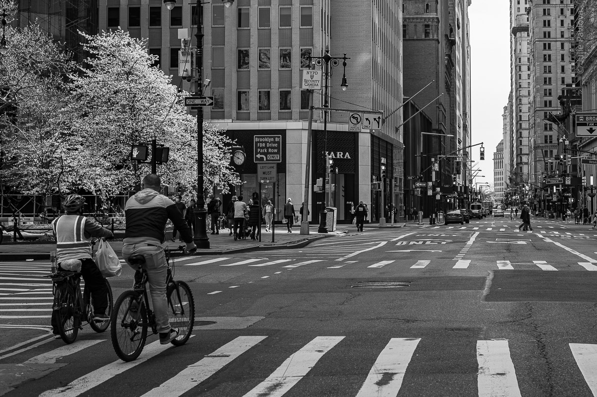 Bikers. Manhattan, New York, during COVID-19. (04/26/2020 by Julie Pavlova Photography)
