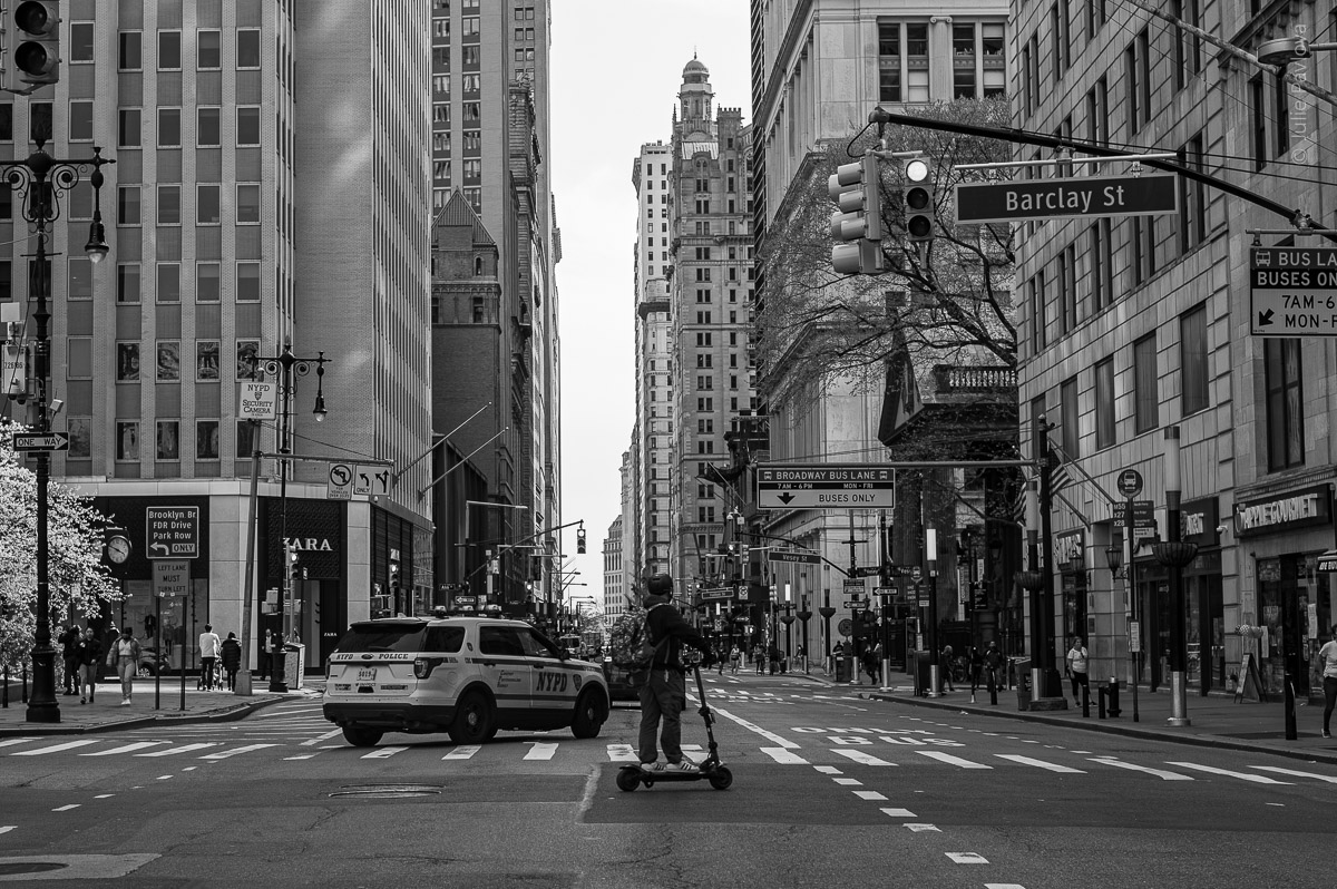Barclay St. Manhattan, New York, during COVID-19. (04/26/2020 by Julie Pavlova Photography)