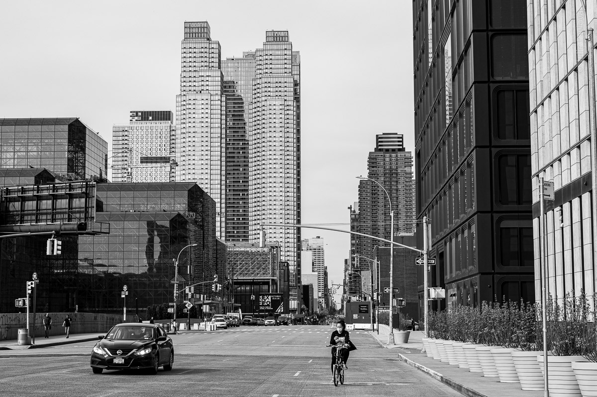 Bicyclist. Manhattan, New York, during COVID-19. (04/26/2020 by Julie Pavlova Photography)