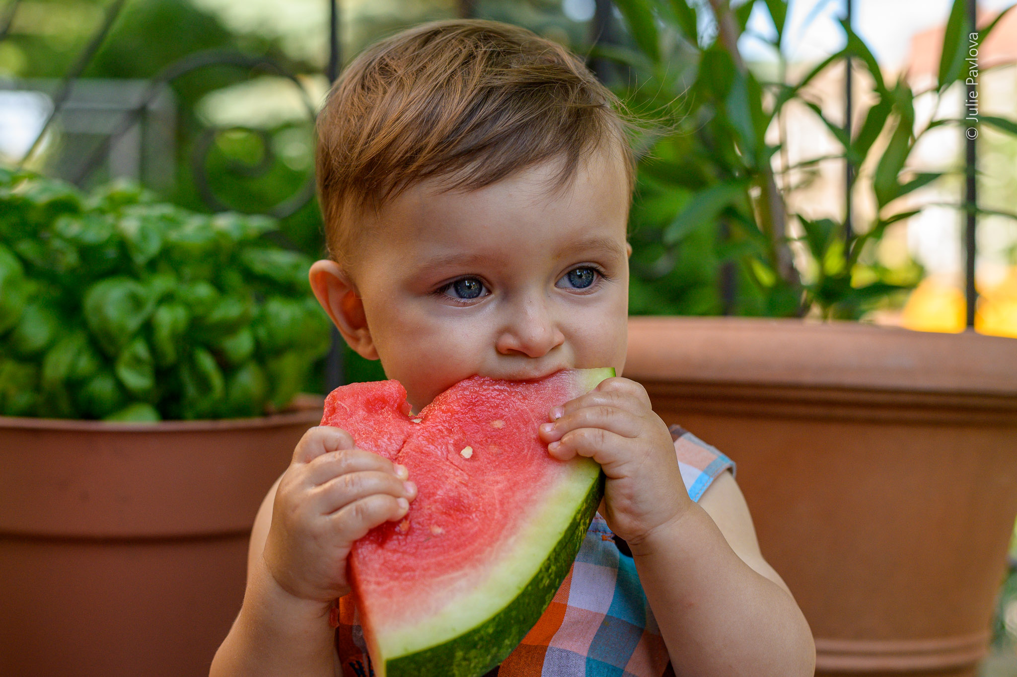 Sitter session. Watermelon session. Kids photography by New York and New Jersey photographer Julie Pavlova. The best New York photographer, family pictures, family photography in New York, New Jersey