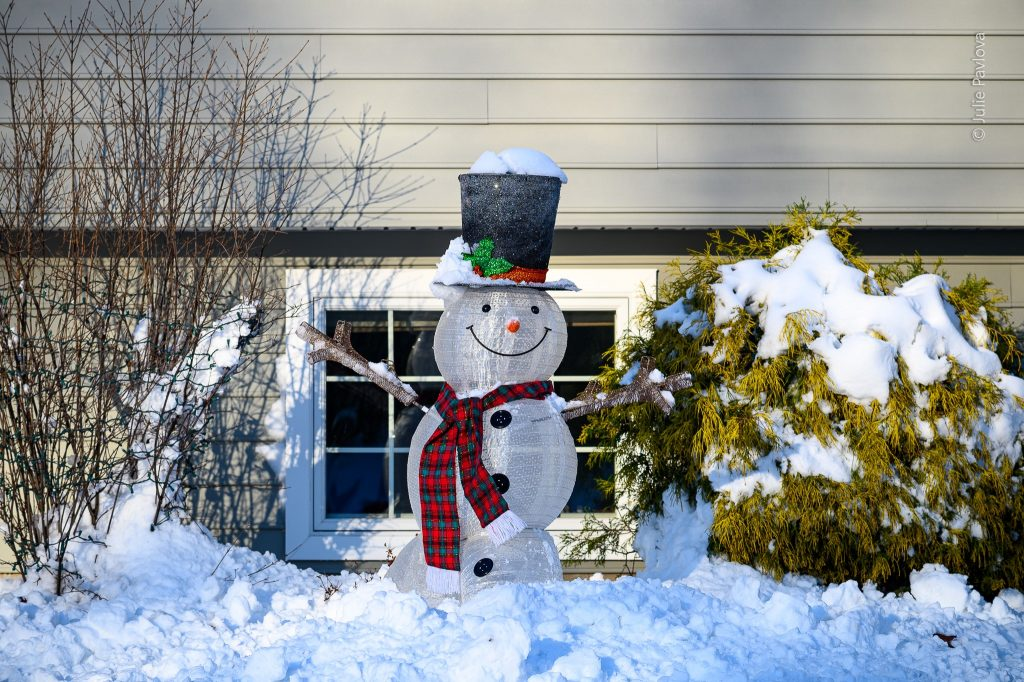 Snowman - Landscape photography by the professional photographer servicing New York City and North Jersey (Bergen County, New Jersey) - Julie Pavlova