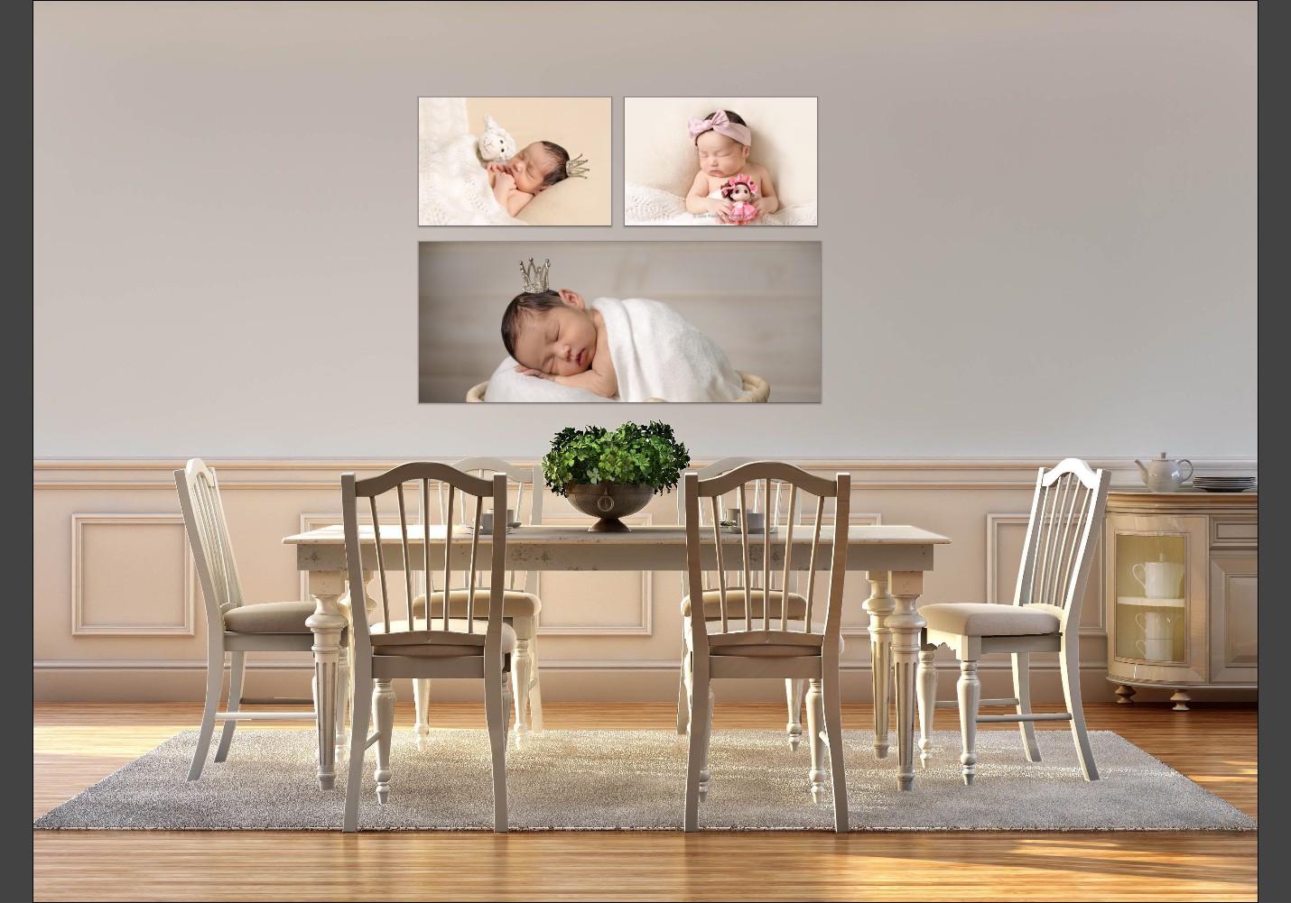 Room view of newborn portrait